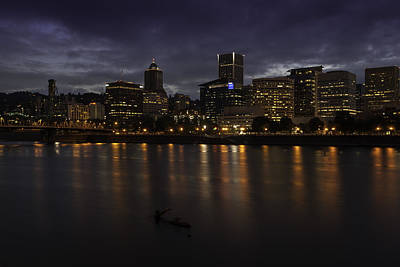 Portland Waterfront Art Print by Jean-Jacques Thebault