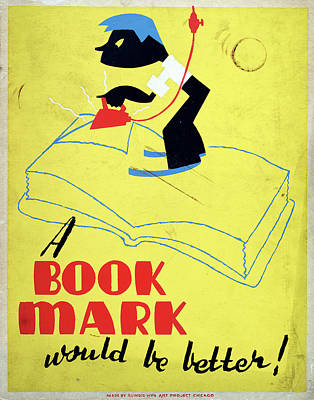 Bookmarks Wall Art - Painting - Poster Books, C1938 by Granger