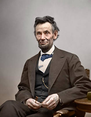 Slavery Photograph - President Abraham Lincoln by Retro Images Archive