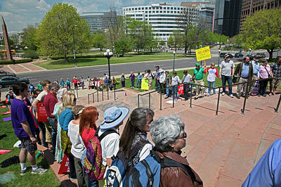 Protest Against Keystone Xl Pipeline Art Print