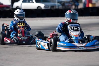 Go Kart Wall Art - Photograph - Racing Go Kart by Gunter Nezhoda