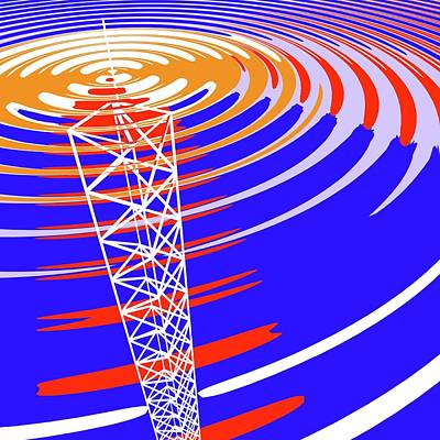 Communication Photograph - Radio Communications Tower by Russell Kightley