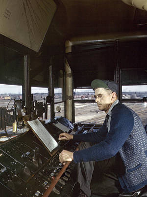 Railroad Workers Photograph - Railroad Worker, 1943 by Granger