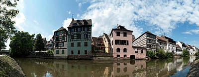 Rhin Photograph - Reflection Of Buildings On Water by Panoramic Images