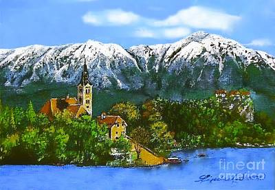 Painting - Remembering Bled by Linda Simon