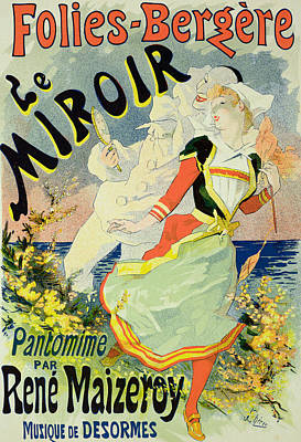 Clown Drawing - Reproduction Of A Poster Advertising by Jules Cheret