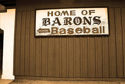 Baseball Mural Photograph - Rickwood Field by Frank Romeo