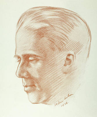 Frost Drawing - Robert Lee Frost (1874-1963) by Granger