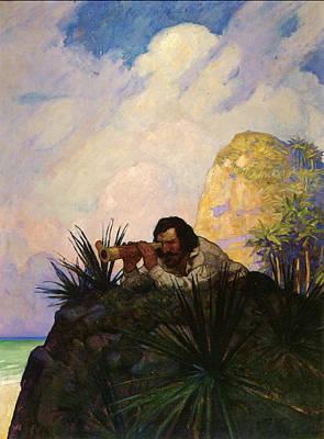Robinson Drawing - Robinson Crusoe, 1920 by Granger