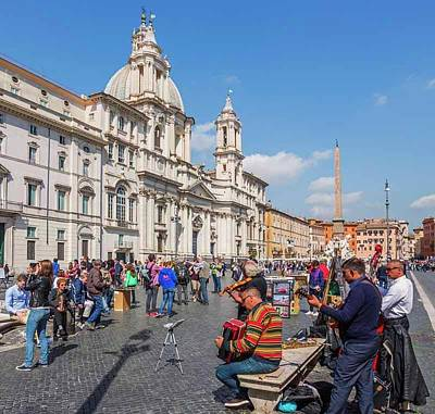 Rome, Italy. Piazza Navona Print by Ken Welsh