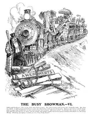 Republican Painting - Roosevelt Cartoon, 1906 by Granger