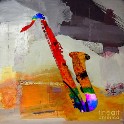 Swing Mixed Media - Sax by Marvin Blaine