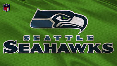 Seahawks Photograph - Seattle Seahawks Uniform by Joe Hamilton