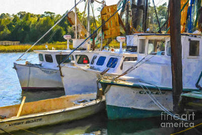 Digital Art - Shrimp Boats by Dale Powell