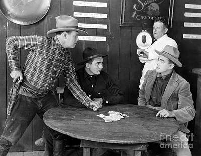 Photograph - Silent Film Still: Gambling by Granger