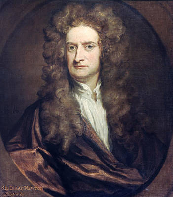 Newton Painting - Sir Isaac Newton (1642-1727) by Granger
