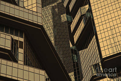 Skyscraper Windows Background In Hong Kong  Art Print by IB Photography