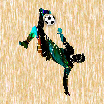 Mixed Media - Soccer by Marvin Blaine