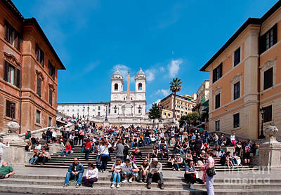 Photograph - Spanish Steps At Piazza Di Spagna by George Atsametakis
