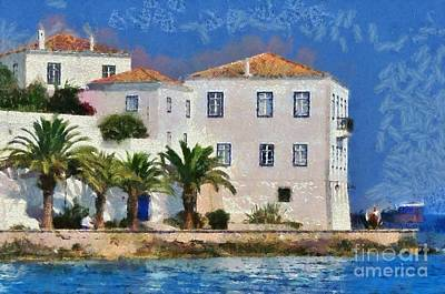 Painting - Spetses Island by George Atsametakis