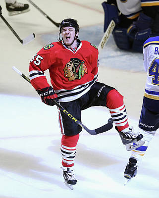Photograph - St. Louis Blues V Chicago Blackhawks - by Jonathan Daniel