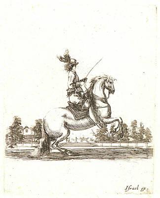 Cavaliers Drawing - Stefano Della Bella Italian by Litz Collection