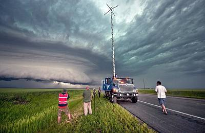 Storm Chasing, Nebraska, Usa Art Print