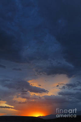 Kyrgyzstan Photograph - Stormclouds And Sunset Above Mountains At Toktogul In Kyrgyzstan by Robert Preston