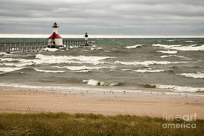 Joesph Photograph - Stormy Lighthouse by Michael Shake