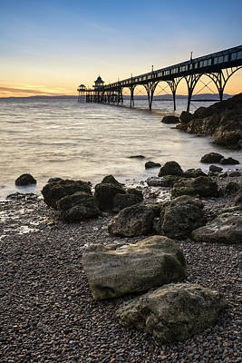 Clevedon Photograph - Stunning Landscape Image Of Old Pier Silhouette Against Vibrant  by Matthew Gibson