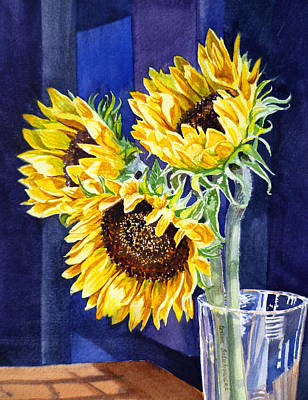 Sunflowers Royalty-Free and Rights-Managed Images - Sunflowers by Irina Sztukowski