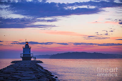 Sunrise At Spring Point Lighthouse Art Print by Diane Diederich