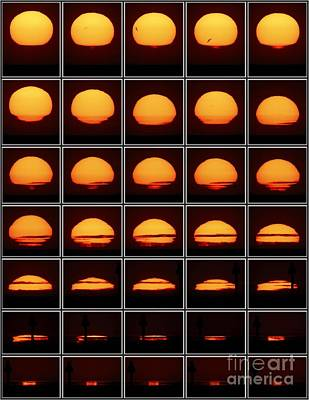 Photograph - Composite Image Of Sunset  by Pekka Parviainen
