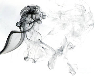 Abstract Movement Photograph - Swirling Smoke by Scott Camazine