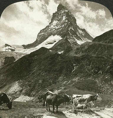 Switzerland Painting - Switzerland Matterhorn by Granger