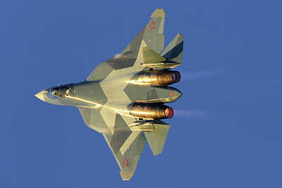 Photograph - T-50 Pak-fa Fifth Generation Jet by Artyom Anikeev
