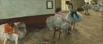 Instruction Painting - The Dance Lesson by Edgar Degas