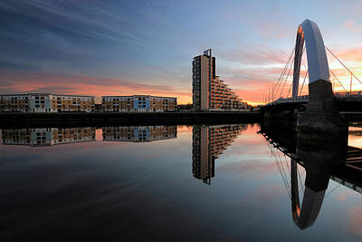 Photograph -  Glasgow Clyde Arc Bridge by Grant Glendinning