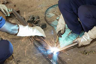 Welding Photograph - The Kamal Factory In Bangalore by Ashley Cooper