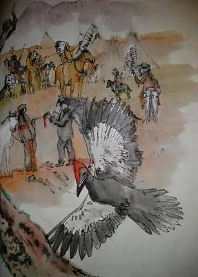 the last wars of NEZ PERCE album Art Print by Debbi Saccomanno Chan