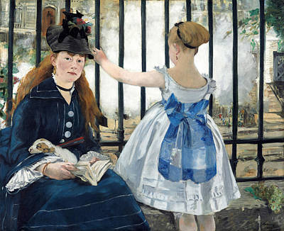 Manet Painting - The Railway by Edouard Manet