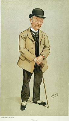 Caricature Painting - Thomas Hardy (1840-1928) by Granger