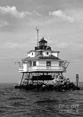 Thomas Point Shoal Lighthouse Art Print by Skip Willits