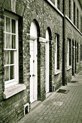 Old Neighbourhood Photograph - Town Houses by Tom Gowanlock