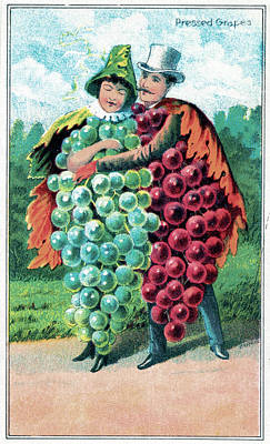 Grapes Drawing - Trade Card, C1887 by Granger