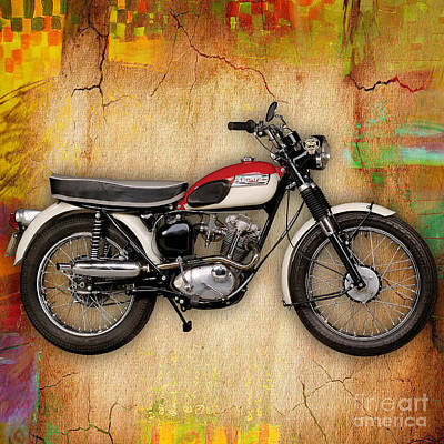 Mixed Media - 1969 Triumph Bonneville Bobber  by Marvin Blaine