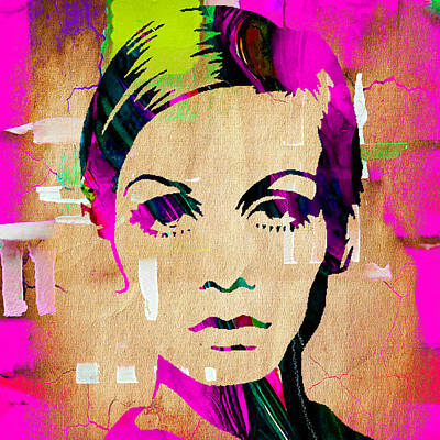 Twiggy Collection Art Print by Marvin Blaine