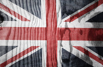 Union Jack Flag  Art Print by Les Cunliffe
