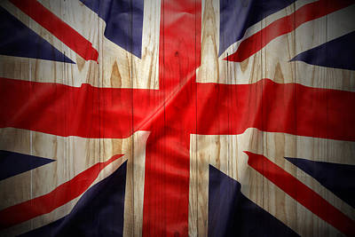 National Symbol Photograph - Union Jack  by Les Cunliffe