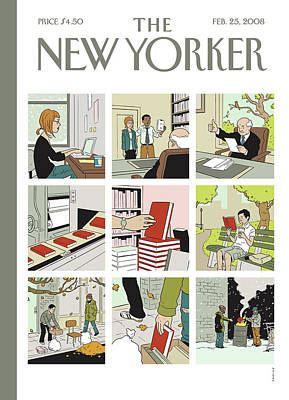 Homeless Painting - New Yorker February 25th, 2008 by Adrian Tomine